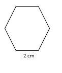 area of hexagon example