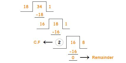 hcf by long division method example 3a