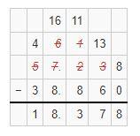 subtraction of decimals example 5