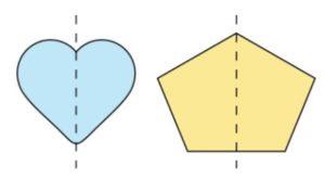 1 line symmetry