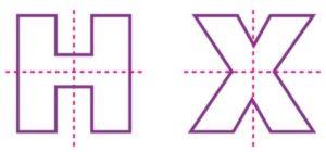 2 lines symmetry