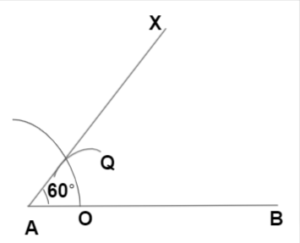 Example 1 of an angle by compass