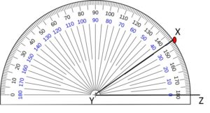 Example1 to draw an angle by protractor