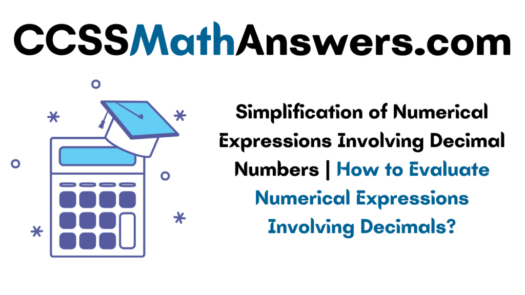 Numerical Expressions Involving Decimal Numbers