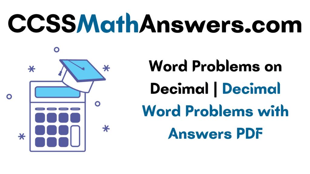 Word Problems on Decimal